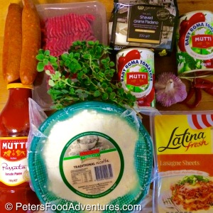 Chorizo and Ricotta Lasagna Recipe Ingredients
