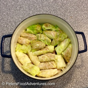 Cabbage Rolls rolled up in a pot
