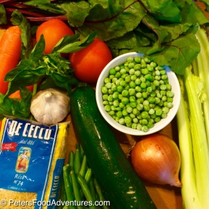 Garden Fresh Minestrone Soup ingredients - inspired by Jamie Oliver