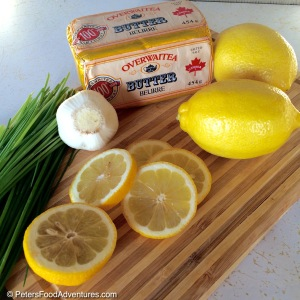 Lake Trout Recipe with Lemon, Chives and Vegetables ingredients