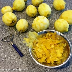 Lemon Peels for Limoncello