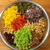 Easy 7 Bean Salad Recipe preparation