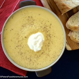 Easy Pumpkin and Leek Soup