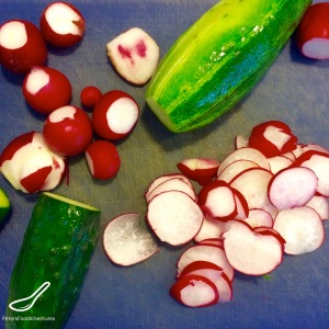 Russian Radish and Cucumber Salad