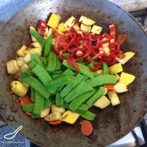Pattypan Squash & Beef Stir Fry wok