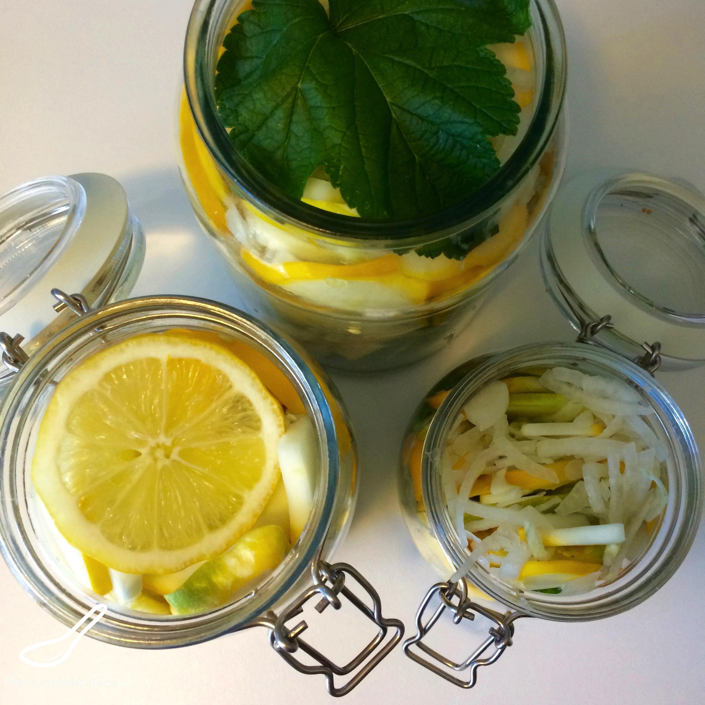 Quick Pickled Summer Squash Preparation