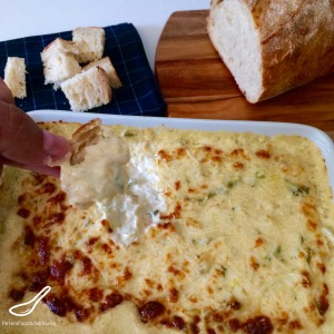 Hot Baked Crab and Artichoke Cheesy Dip, Spinach Free! Easy to make, leaving you wanting more. One of my guilty pleasures.