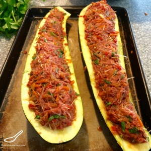 Thai Zucchini Boats Baking