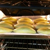 Baked Piroshki with Potato & Beef (Пирожки в духовке с картошкой)