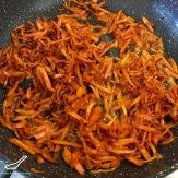 Funchoza Recipe (Фунчоза) fried carrots