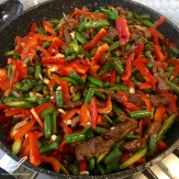 A wonderful Central Asian classic, the original pasta, hand pulled and delicious with Chinese black vinegar vegetable beef stirfry - Lagman Recipe Uyghur Noodle Stir Fry (Лагман)