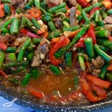 Chinese black vinegar vegetable beef stir fry