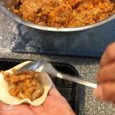 Manti Steamed Dumplings (Манты) preparation