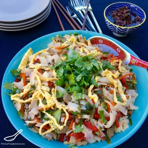 A colourful and delicious salad-type meal, that's little known outside of Central Asia. Sometimes salad-y, sometimes soupy. Served cold or warm - Ashlyamfu (Ашлямфу)