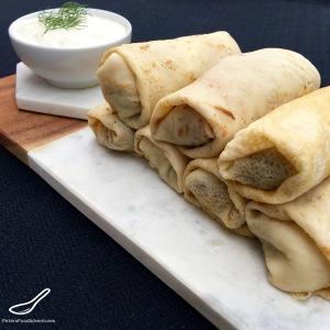 Blini Stuffed with Meat (Блинчики с мясом)
